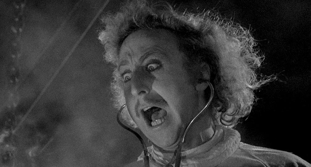El joven doctor Frederick Frankenstein, un neurocirujano norteamericano, trata de escapar del estigma legado por su abuelo, quien creó años atrás una horrible criatura. Pero,   cuando hereda el castillo de Frankenstein y descubre un extraño manual científico en el que se explica paso a paso cómo devolverle la vida a un cadáver, comienza a crear su propio monstruo.
