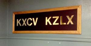 KCXV KZLX plaque