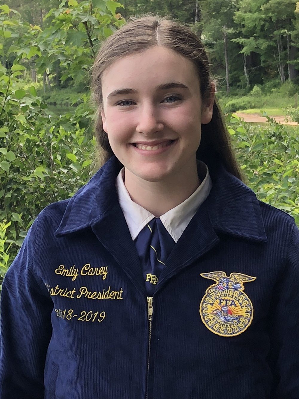 EMILY CAREY DISTRICT 2 PRESIDENT TRI-VALLEY FFA