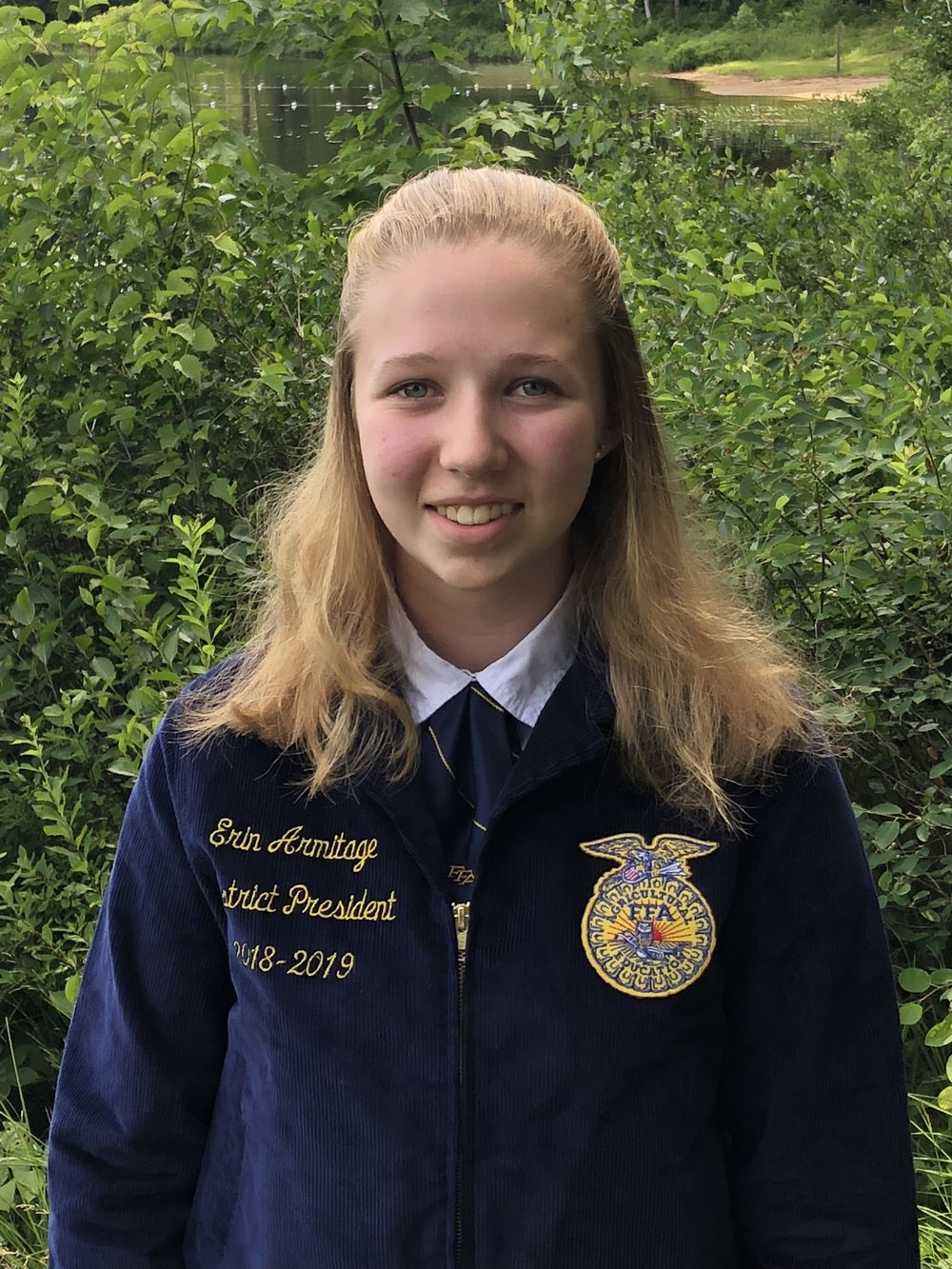 ERIN ARMITAGE DISTRICT 3 PRESIDENT GREENWICH FFA
