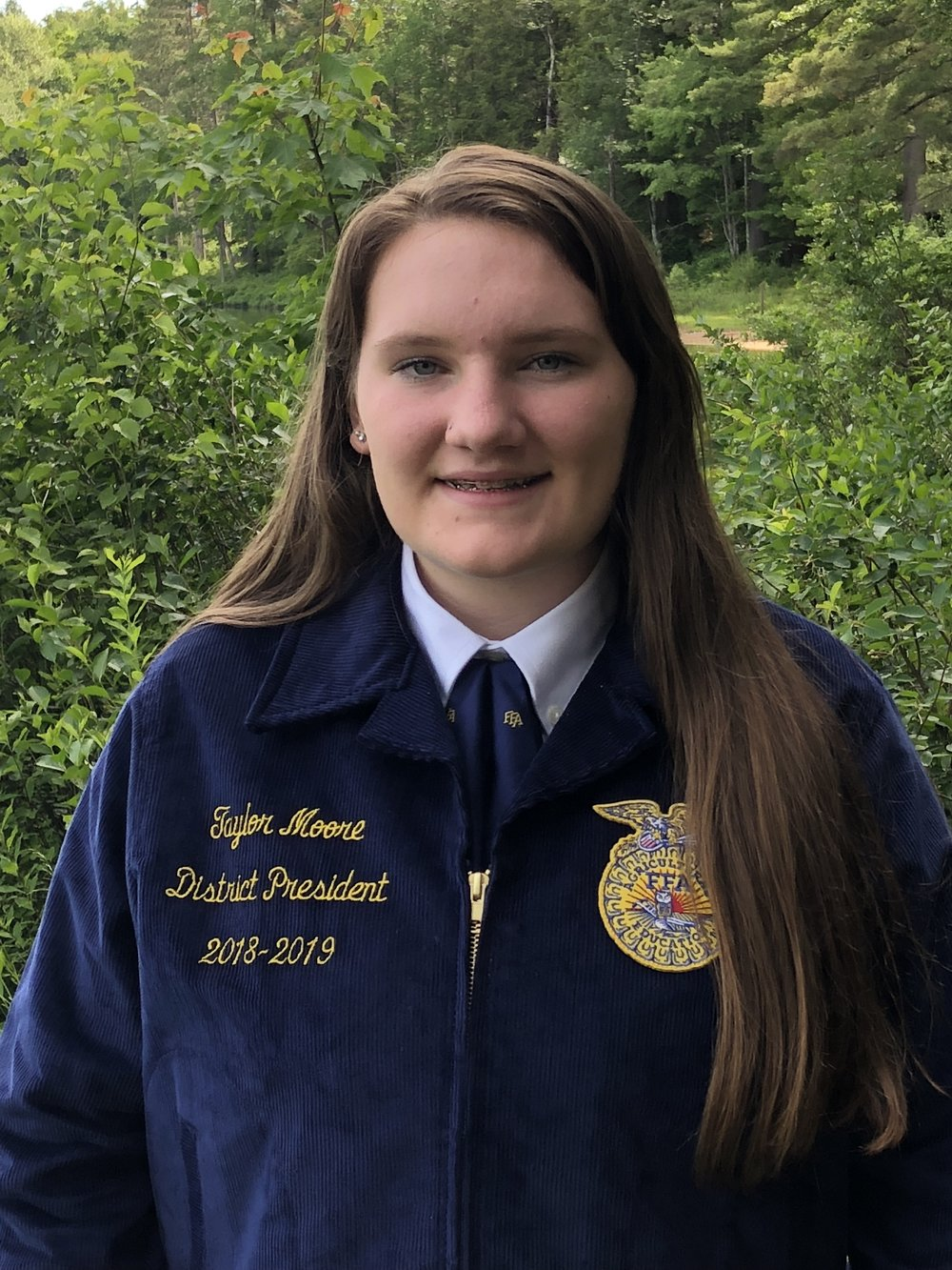 TAYLOR MOORE DISTRICT 4 PRESIDENT OXFORD FFA
