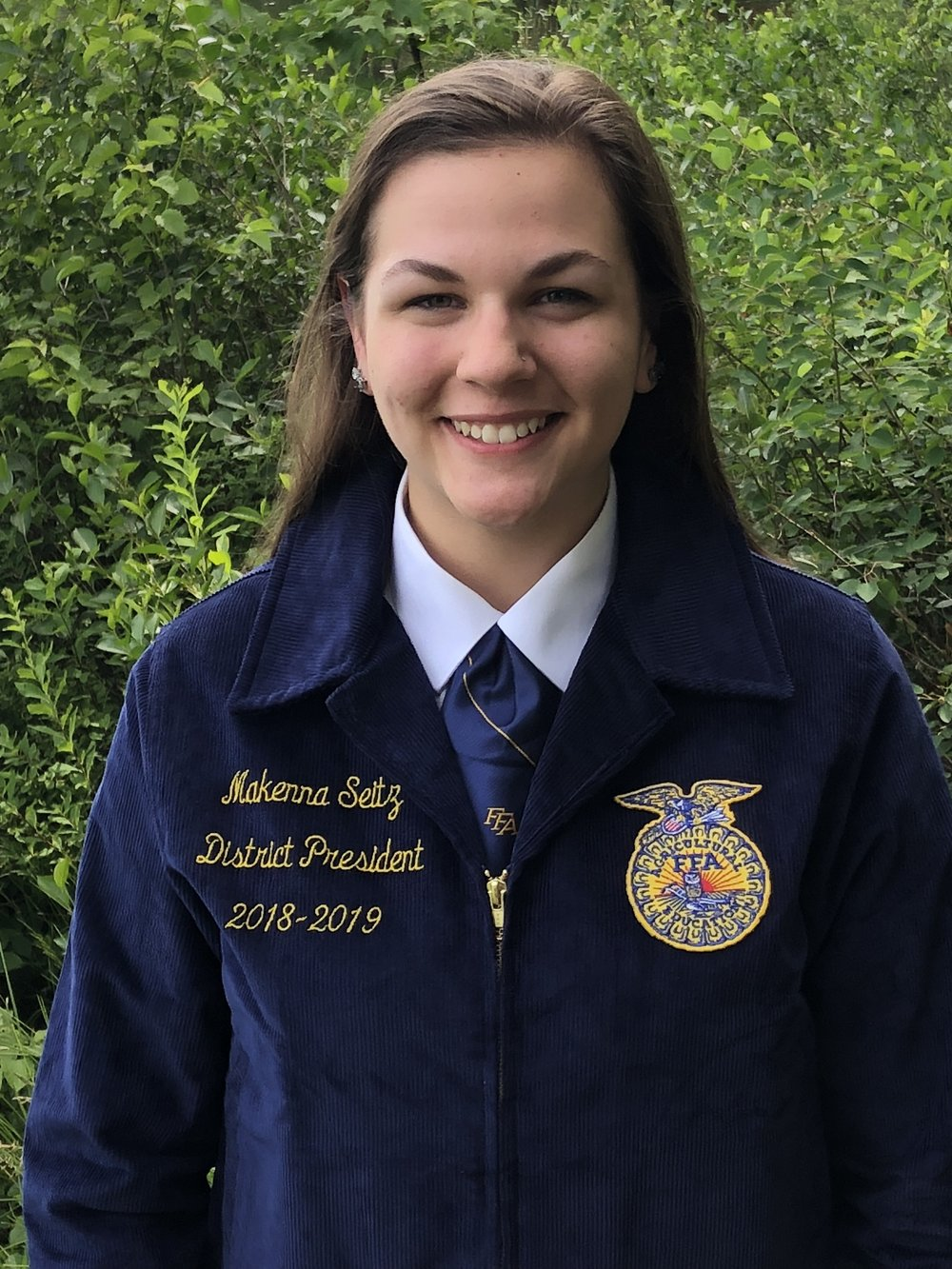 MAKENNA SEITZ DISTRICT 5 PRESIDENT VVS FFA