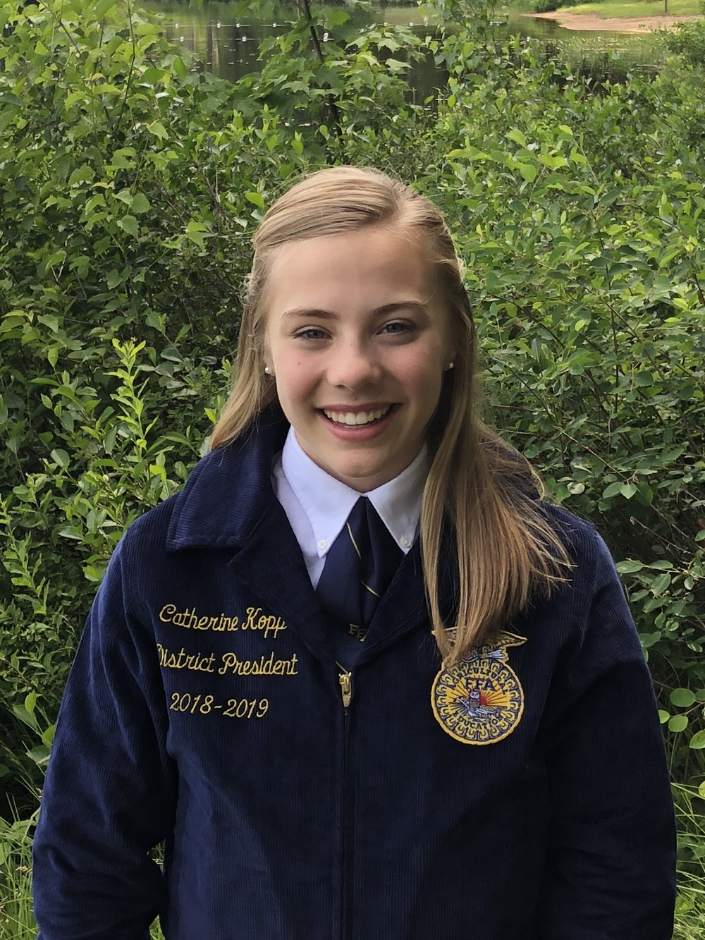 CATHERINE KOPP DISTRICT 7 PRESIDENT SOUTHERN CAYUGA FFA