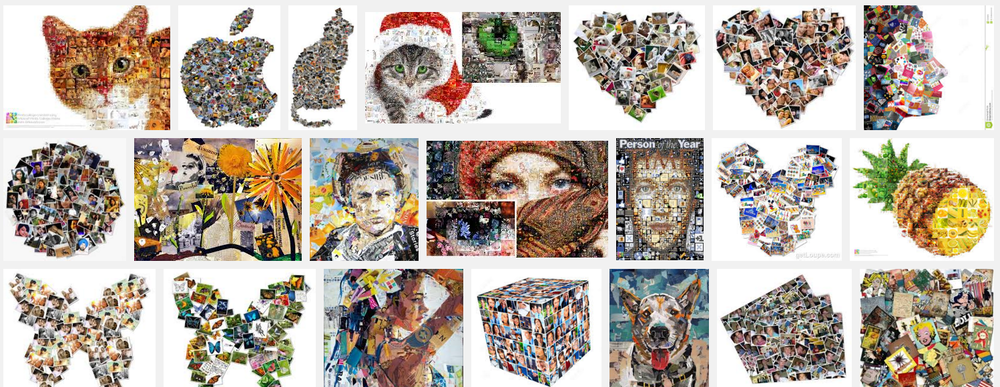Hideous results from a google search for 'collage'