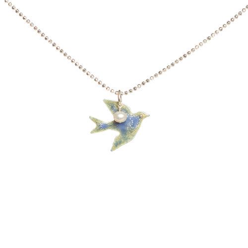 Swift bird necklace bluebird designs features sterling silver enamel swift bird necklace aloadofball Gallery
