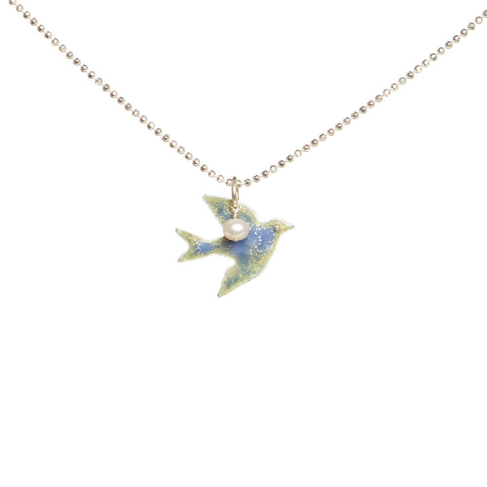 gold kiya dainty silver pendant bird products rose tiny necklace