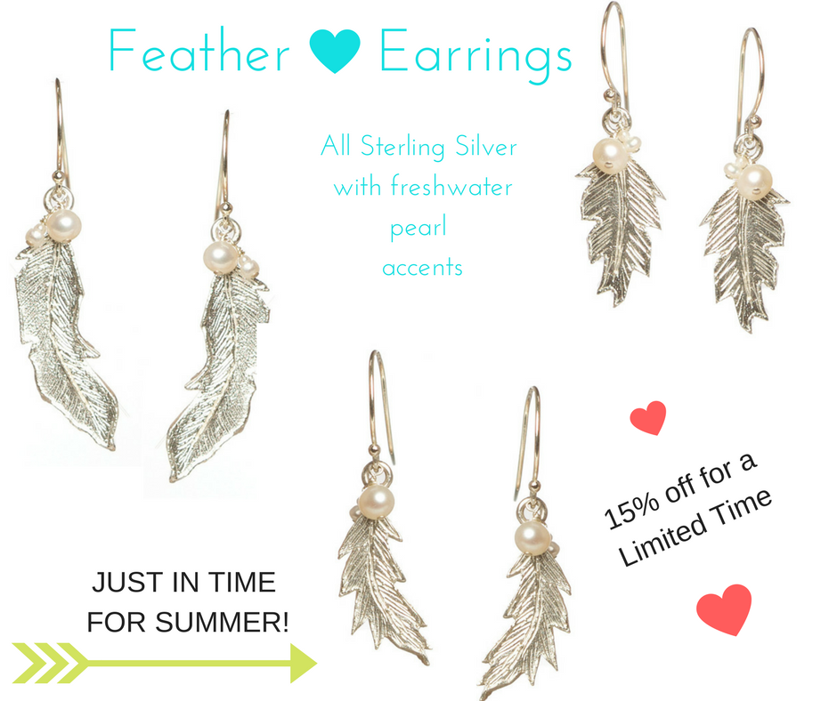summer fashion feather earrings