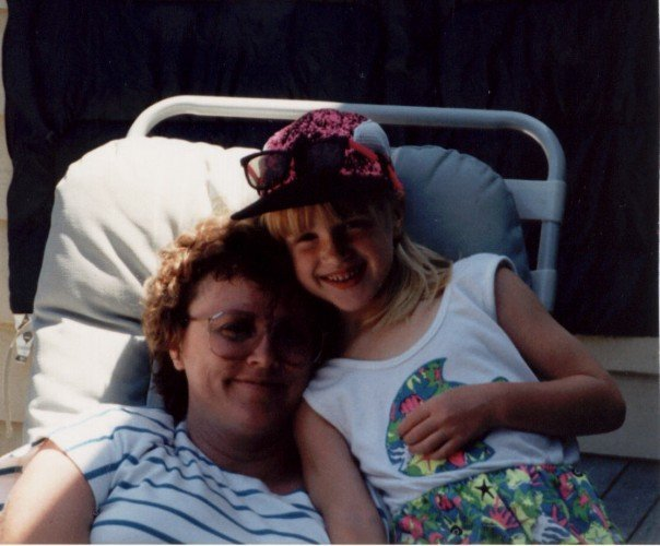 My mom and I. Not sure what year. '91? One of my most held onto photos because it's so us.