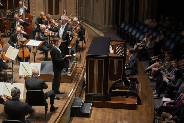 "Organist Paul Jacobs and countertenor Iestyn Davies joined the Cleveland Orchestra and music director Franz Welser-Most Saturday for a performance of Bach's Cantata No. 170, part of a program titled ""Divine Ecstasy."" ( Photo by  Roger Mastroianni for the Plain Dealer)"