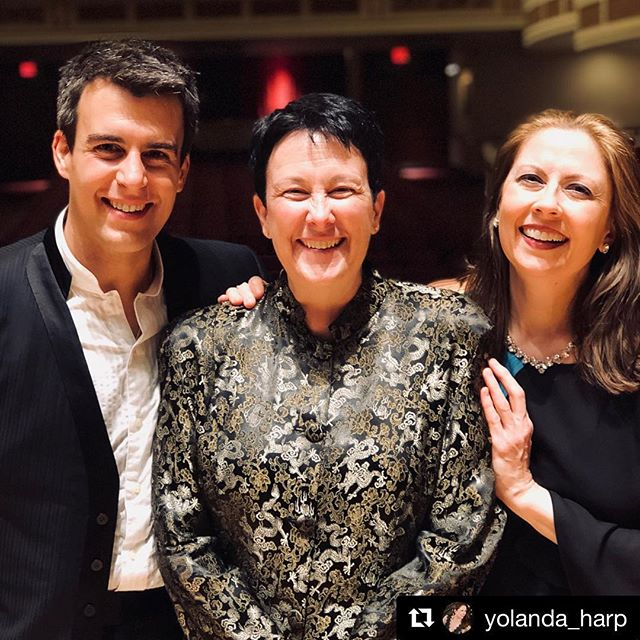 Congratulations to all for an incredible job! #Repost @yolanda_harp with @get_repost ・・・ Had a fun post-concert photo session while we were all exhaling and ready to celebrate after our world premiere performances of #JenniferHigdon's Harp Concerto with @wardstare and @rochesterphilharmonic! So excited to perform the work again this weekend with the @harrisburgsymphony.