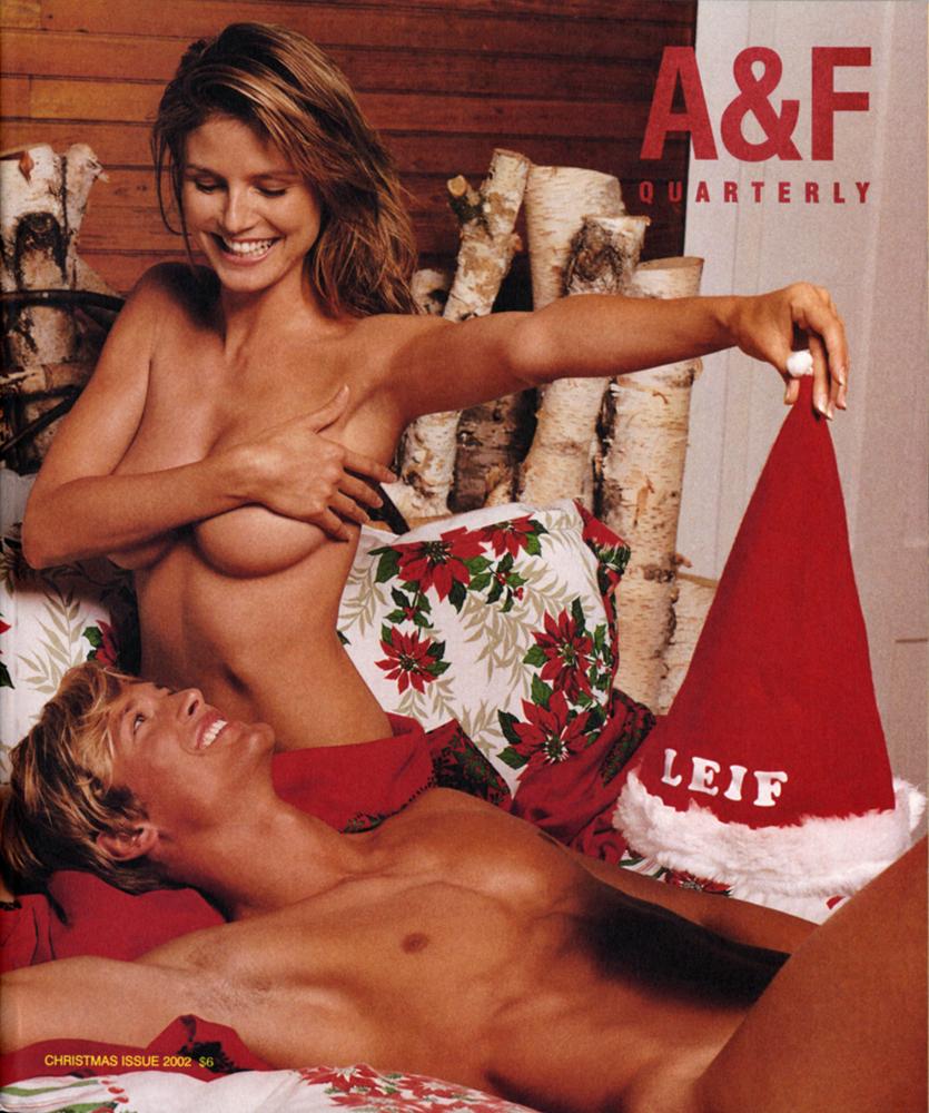 Heidi Klum for Abercrombie & Fitch.