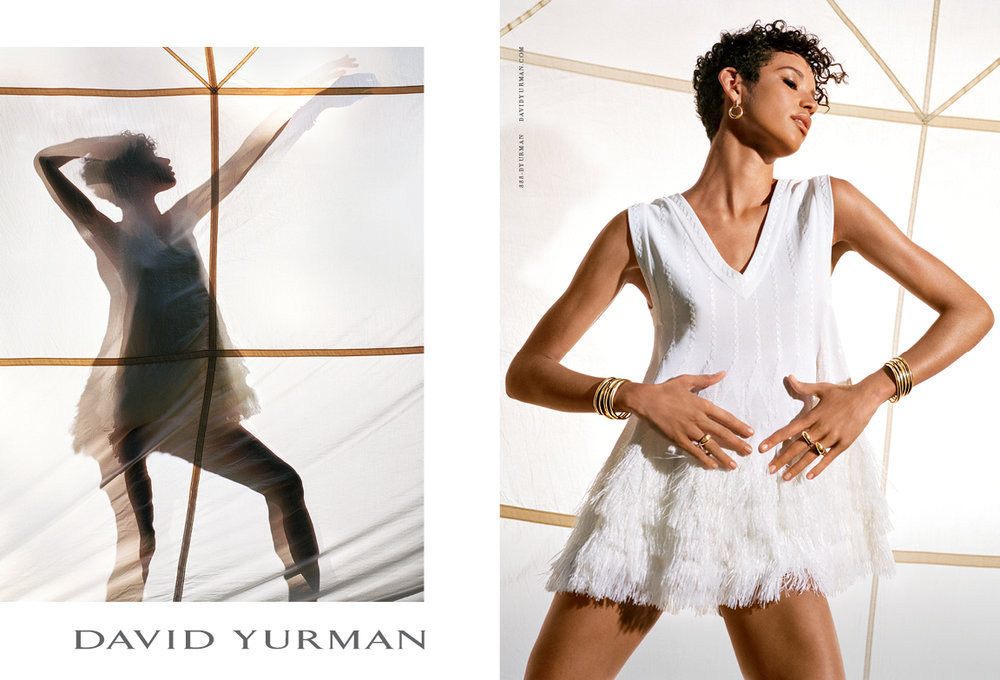 Client: David Yurman Art Direction: Sam Shahid Photographer: Bruce Weber Model: Dilone