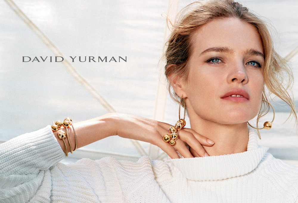 Client: David Yurman Art Direction: Sam Shahid Photographer: Bruce Weber Model: Natalia Vodianova