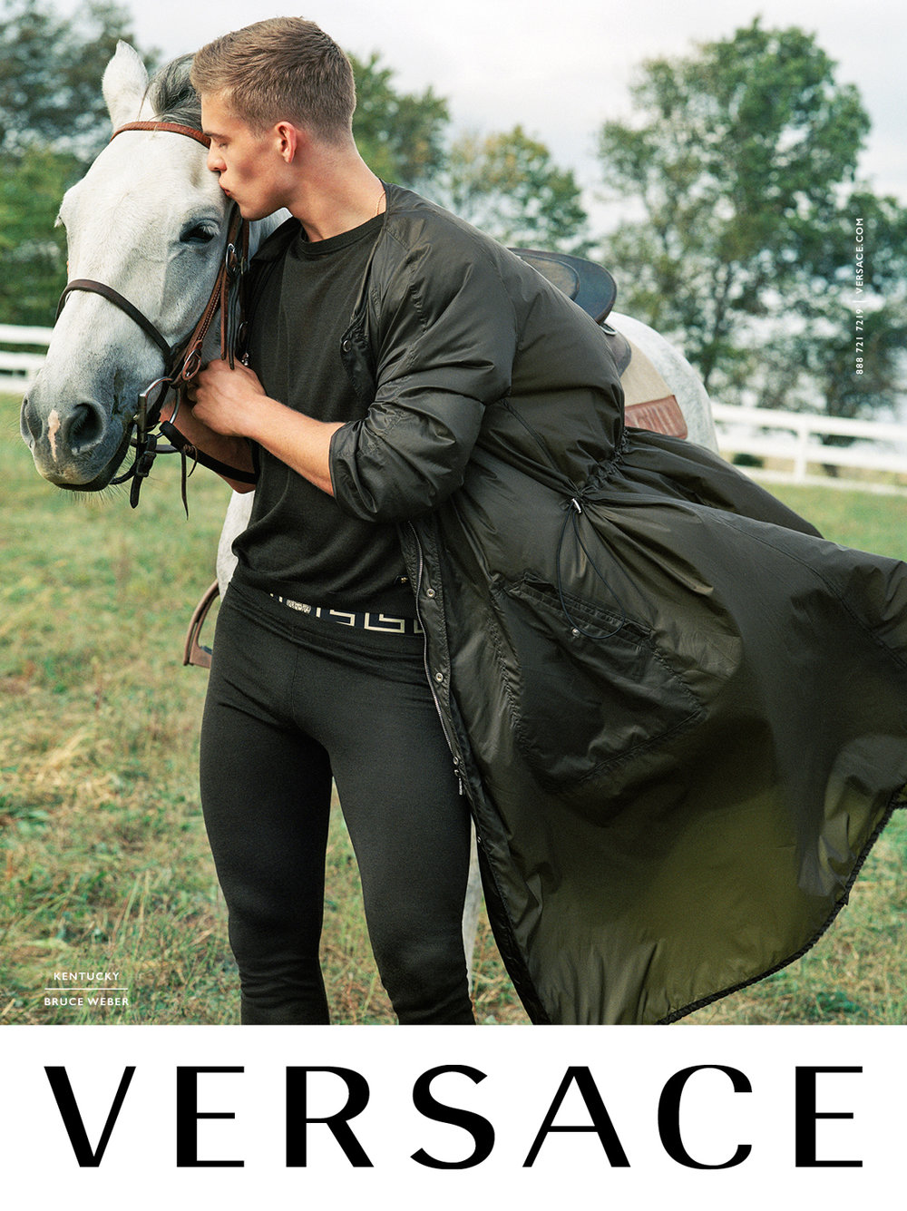 Versace Spring/Summer 2017 campaign.  Photography: Bruce Weber Art Direction: Sam Shahid Models: Mitchell Slaggert