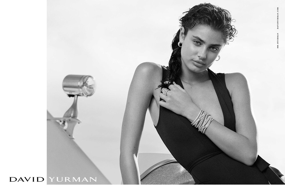 Client: David Yurman Season: Spring / Summer 2017 Photography: Bruce Weber Art Director: Sam Shahid Models: Natalia Vodianova, Taylor Hill Product: Stacks