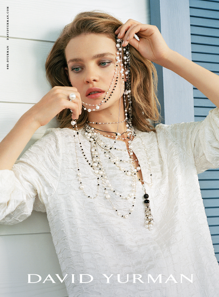 Client: David Yurman Season: Spring / Summer 2017 Photography: Bruce Weber Art Director: Sam Shahid Models: Natalia Vodianova, Taylor Hill Product: Pearls