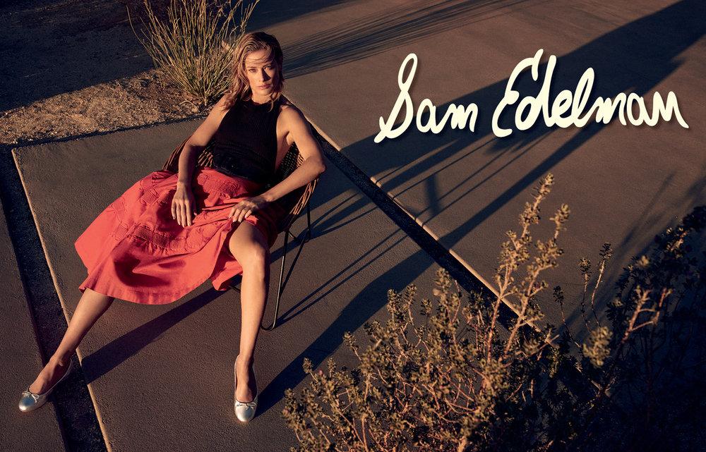 Client: Sam Edelman Creative: Sam Shahid / Shahid & Company Photographer: Kelly Klein Model: Carolyn Murphy