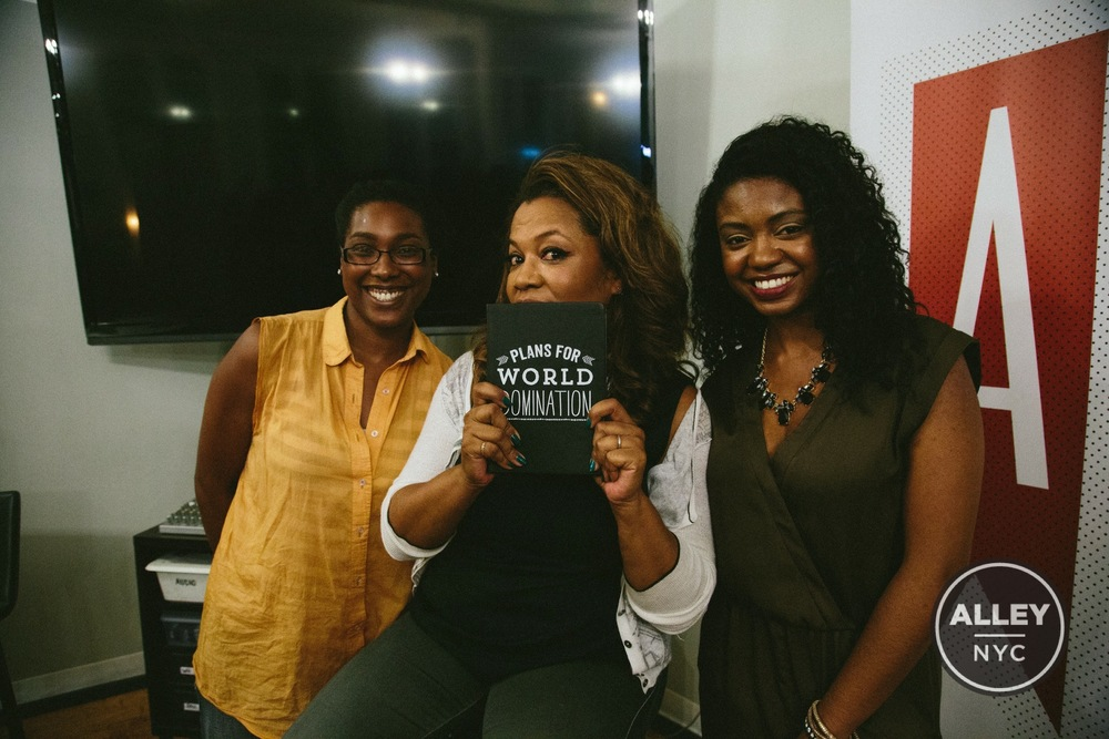 Éccolo marketing director, Jasmine Henderson, with Danyel Smith and founder of HerAgenda, Rhonesha Byng