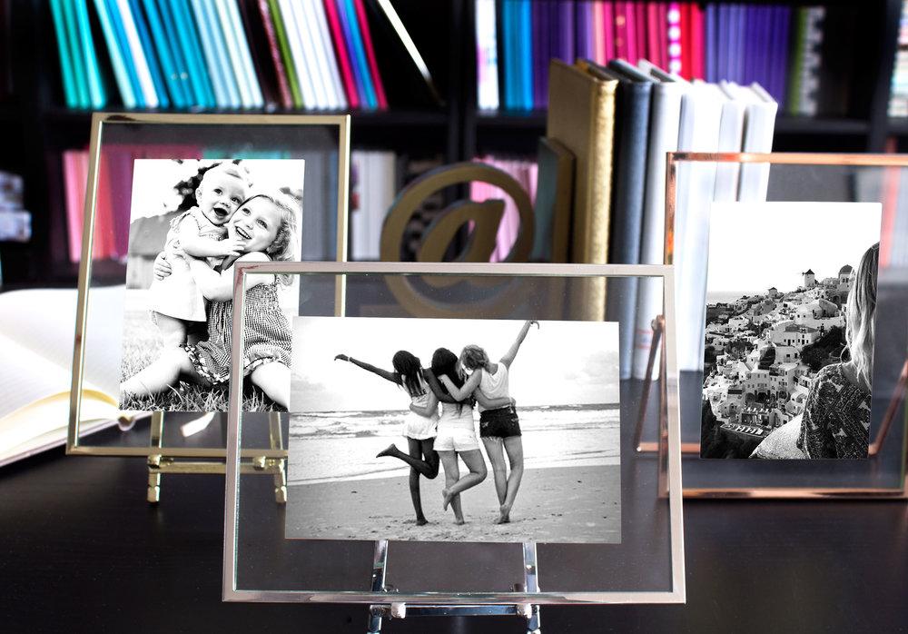 Metal Float Frame Details  HampH Color Lab