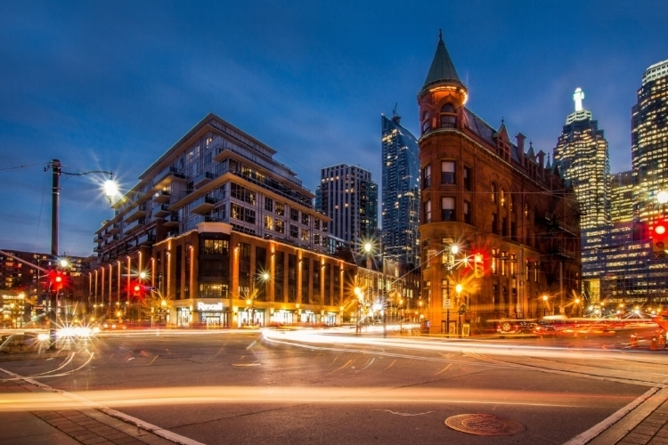 The corner of Front Street and Church Street,Toronto, Canada by  Dawson Lovell