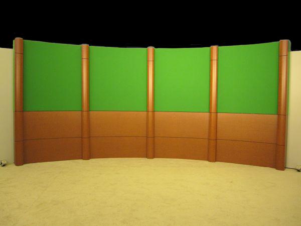 Wall Column News Set Background