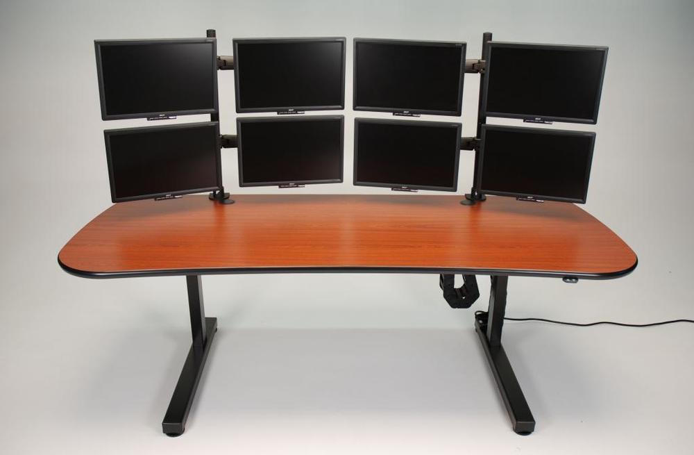 Ergo Mesa height adjustable desk with multiple monitors.jpg