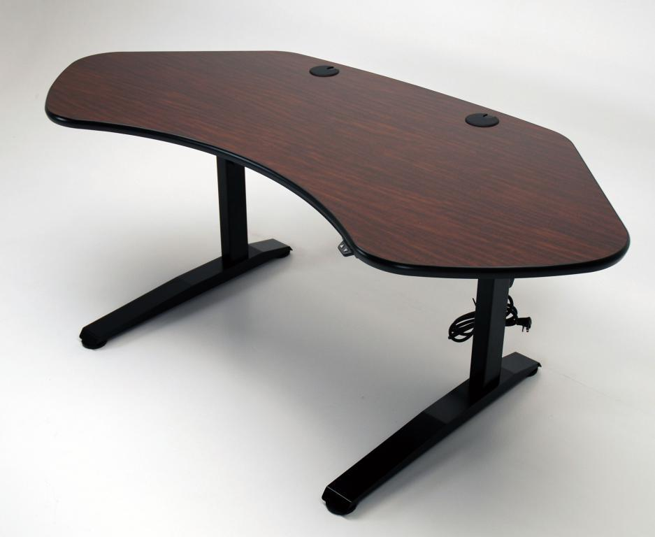 Ergo Solo height adjustable desk in Kenyan Mahogany.jpg