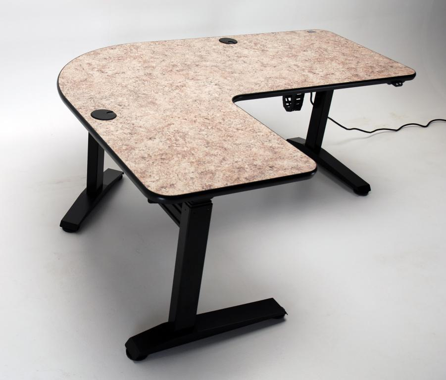"UNISET PRO-EDIT Ergonomic Single Height ""L"" Corner Desk $2,900.00"