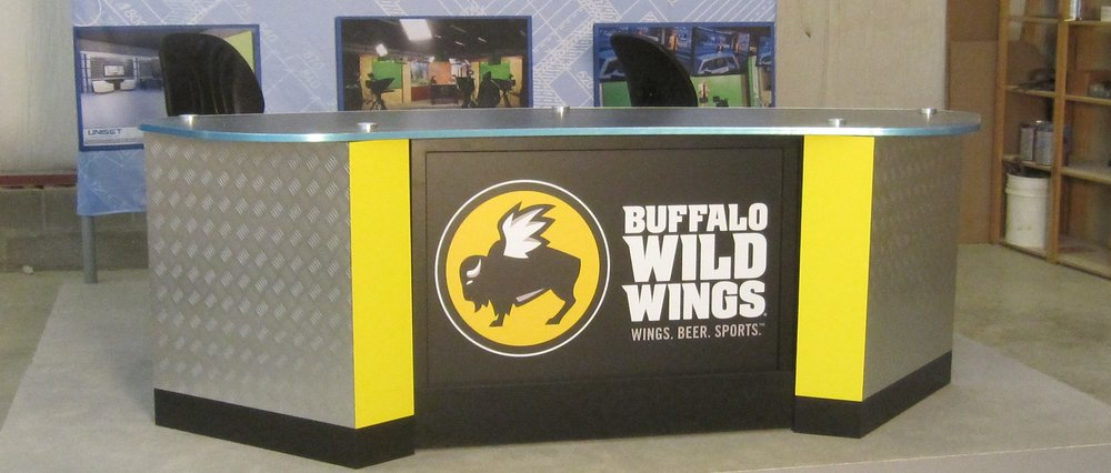 Vikings Buffalo Wild wings desk.JPG