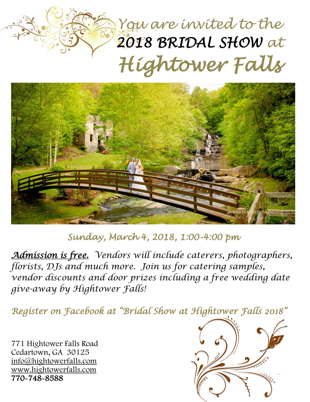 2018 Bridal Show at Hightower Falls
