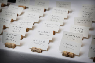 horizontal wine cork escort card - Wedding Escort Cards