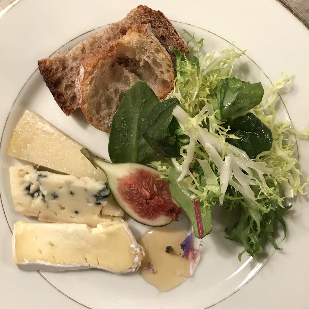 Plated salad : cheese course.JPG