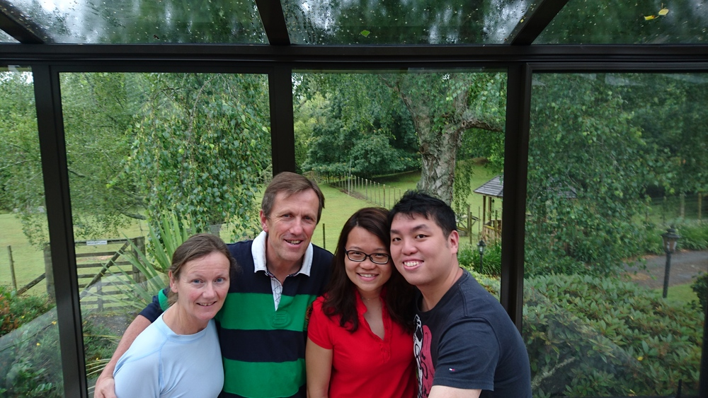 Hosts Teresa and Mick with honeymooning guests Soon Teck and Yi Hui from Singapore