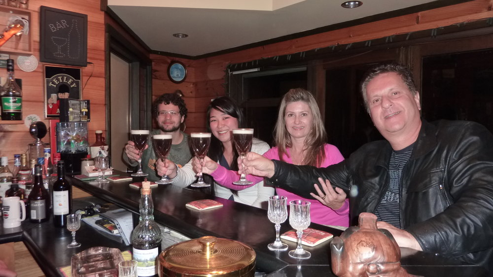 Guests enjoying an Irish coffee at The Anglers Arms.JPG