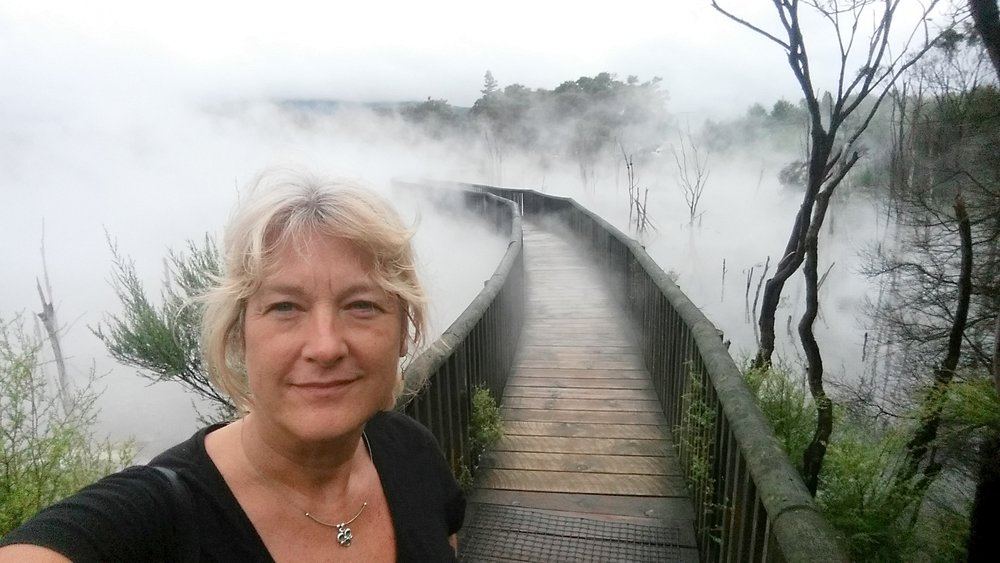 Checking out the thermal activity at Kuirau Park (in central Rotorua) - a very surreal place!