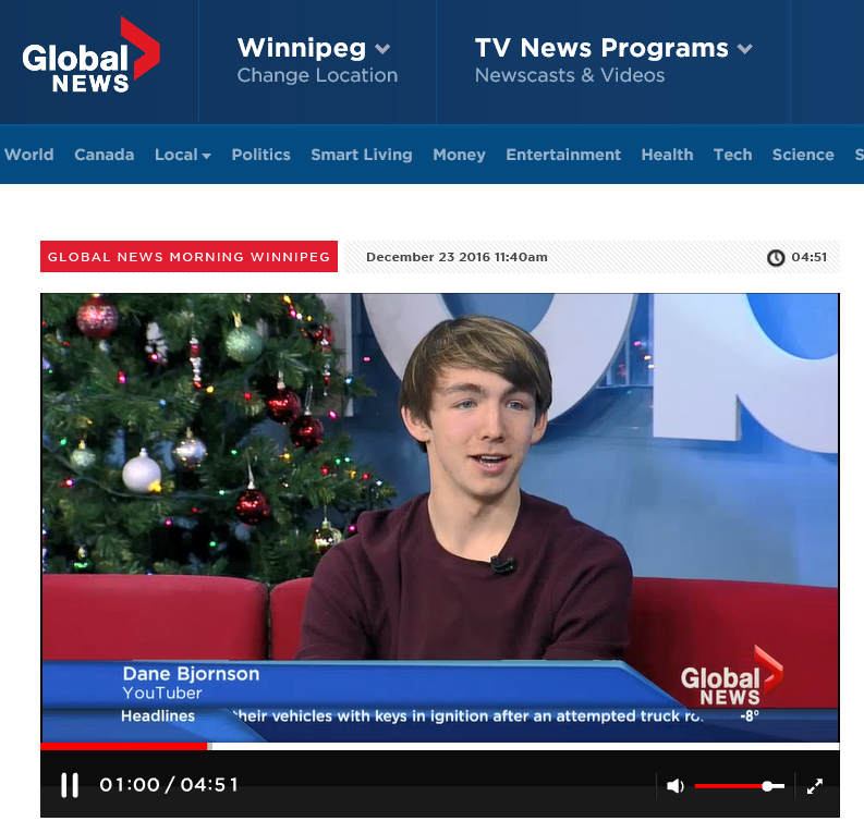 Dane on Global TV