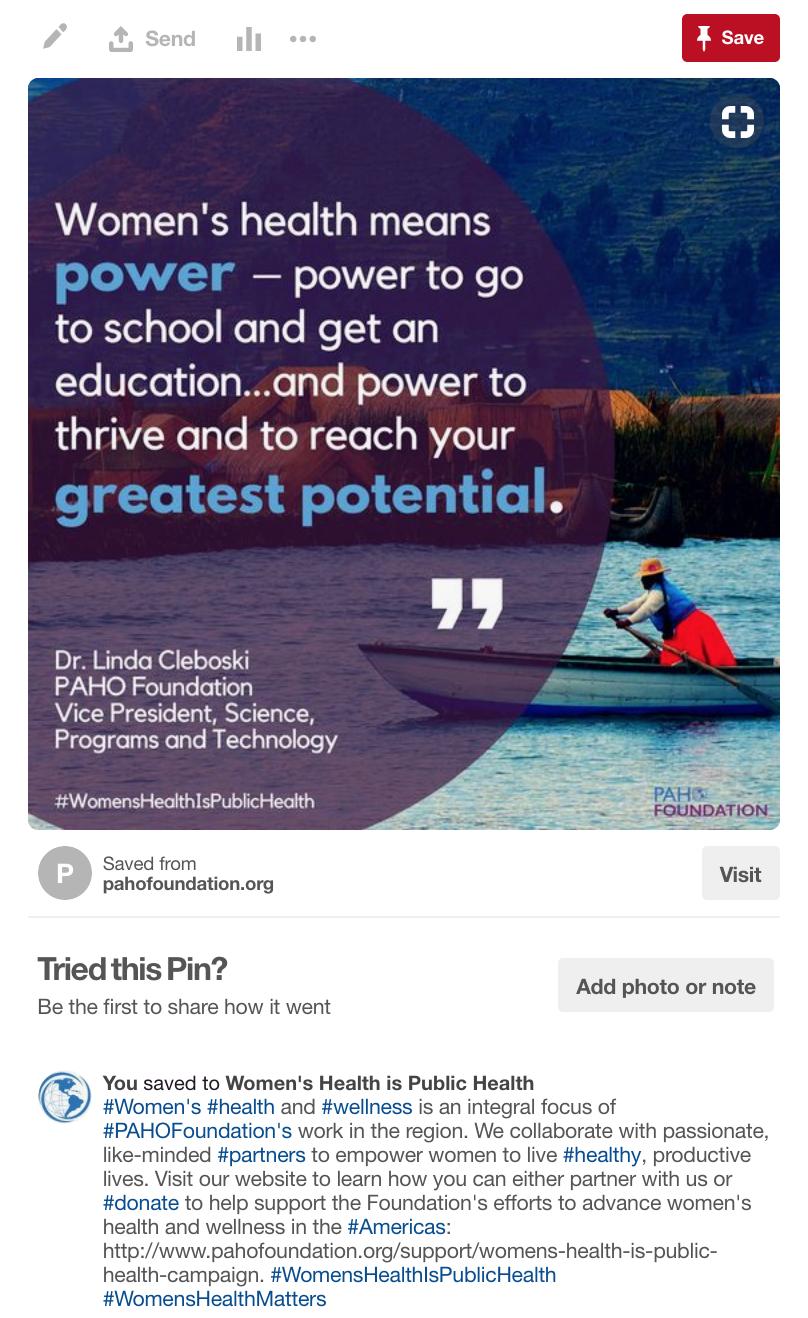 PAHO Foundation Pinterest Post 1