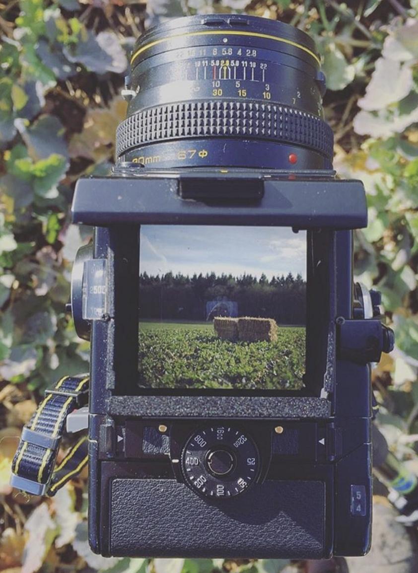 A medium format film camera with a 6cmx6cm 'sensor'!