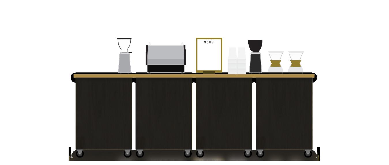 modular bar furniture crescendo mobile bar espresso coffee service
