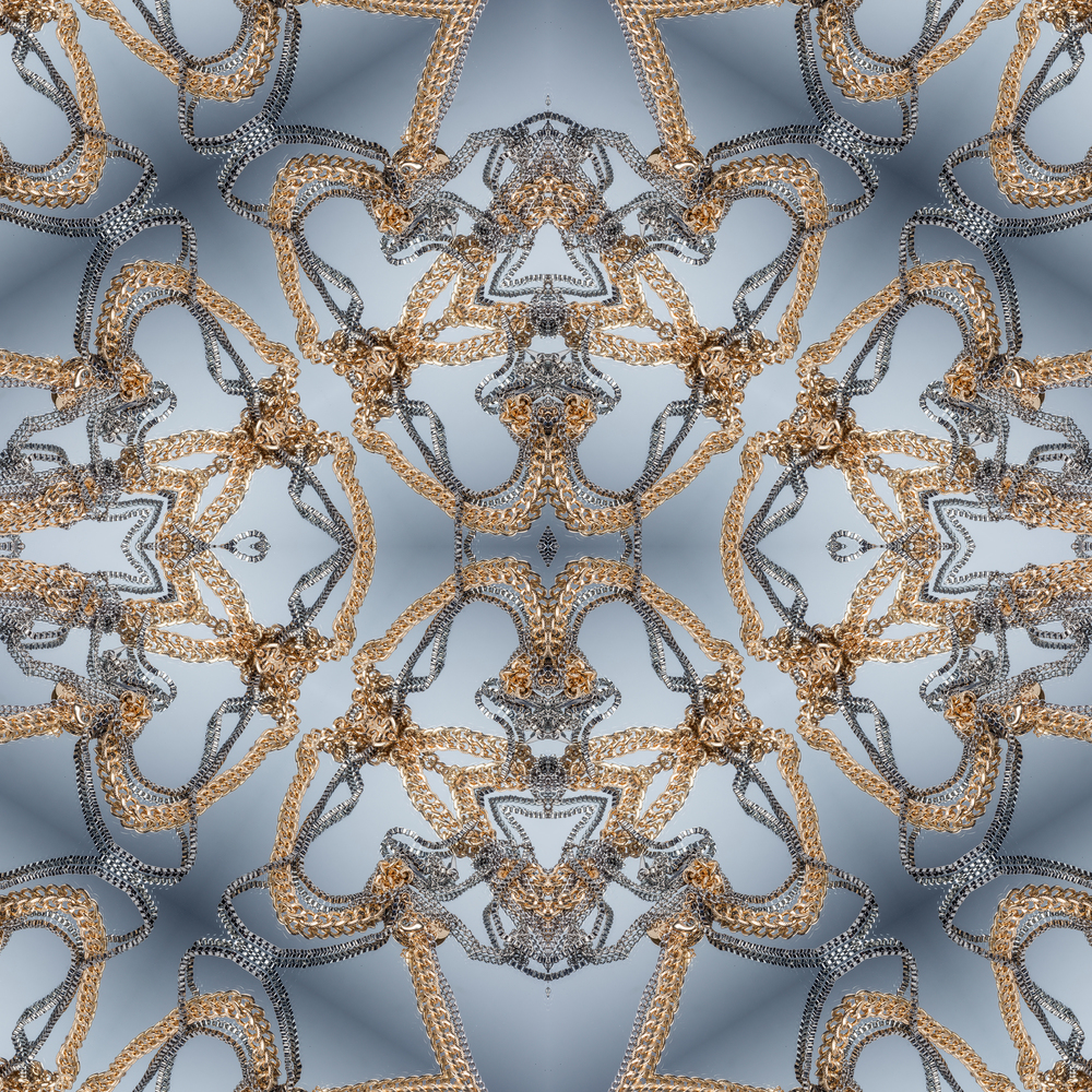 Golden Snowflake detail.