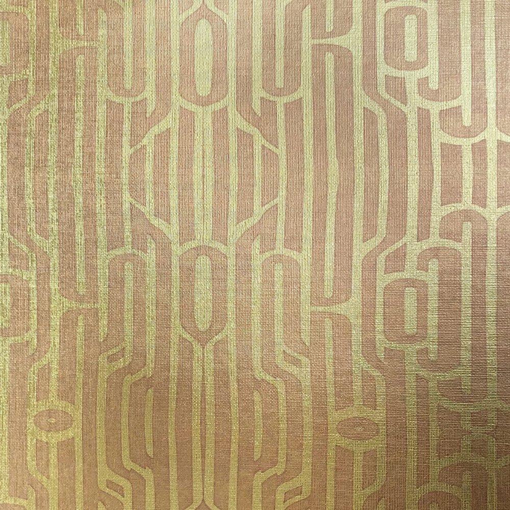 Ritmo Rosé on textured gold metallic wallpaper