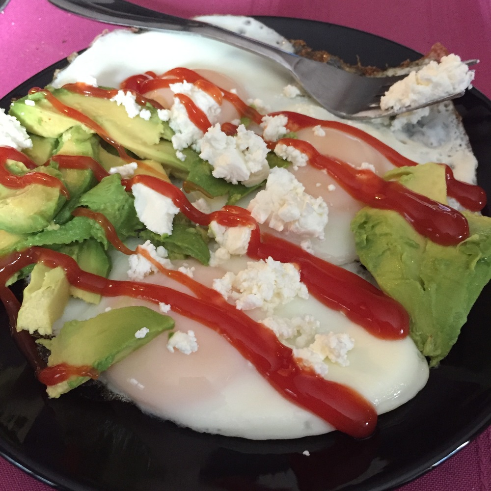 Eggs, Avo, Feta Cheese