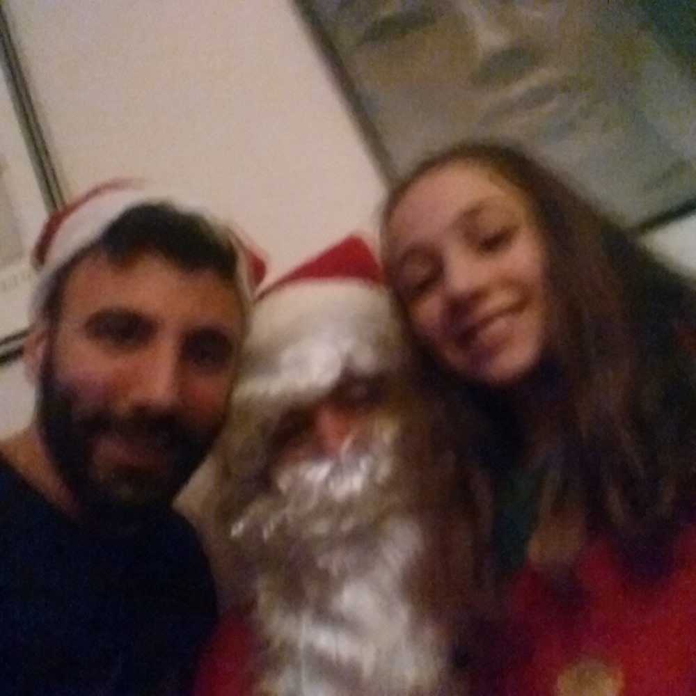 My cousin Antonia, Santa and Me