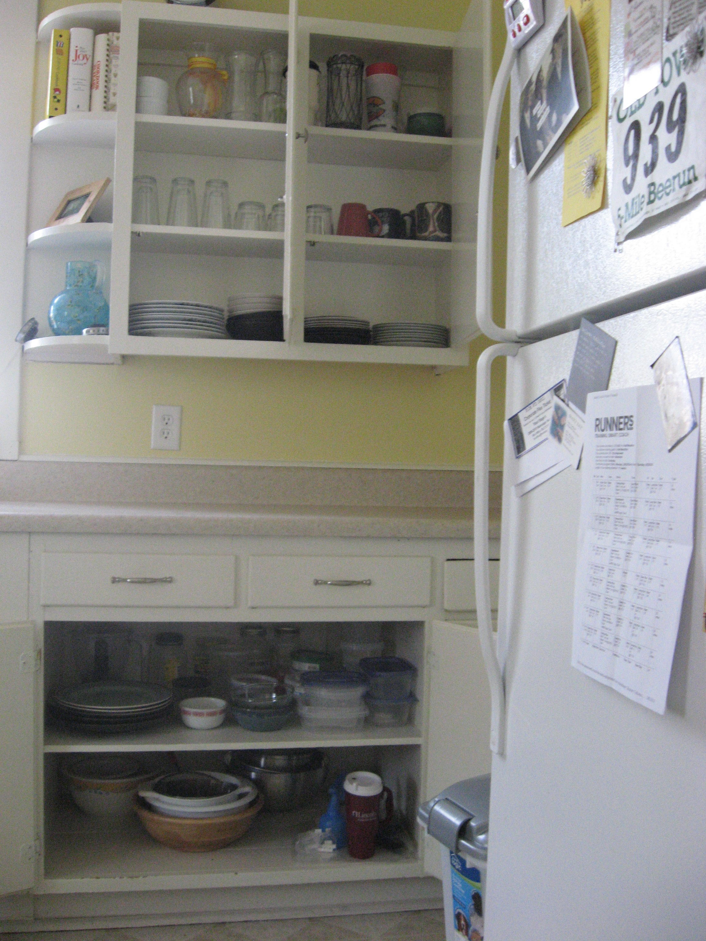 The long view of my perfectly organized cabinets! I love it!