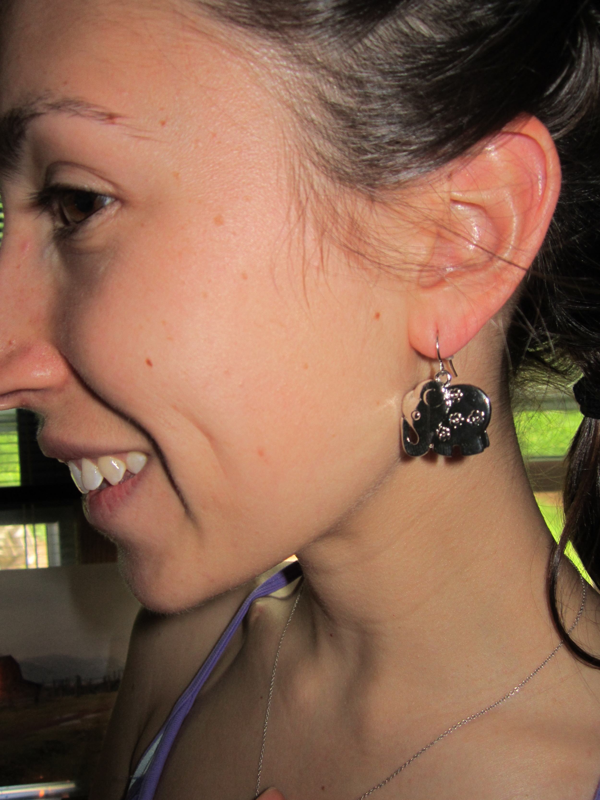 Elephant earrings!!!
