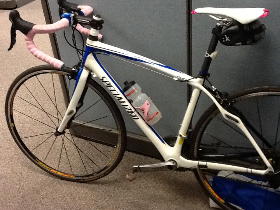 My bike just hanging out in my cube!