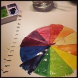 Color wheel I painted last night with shitty cheap water colors...