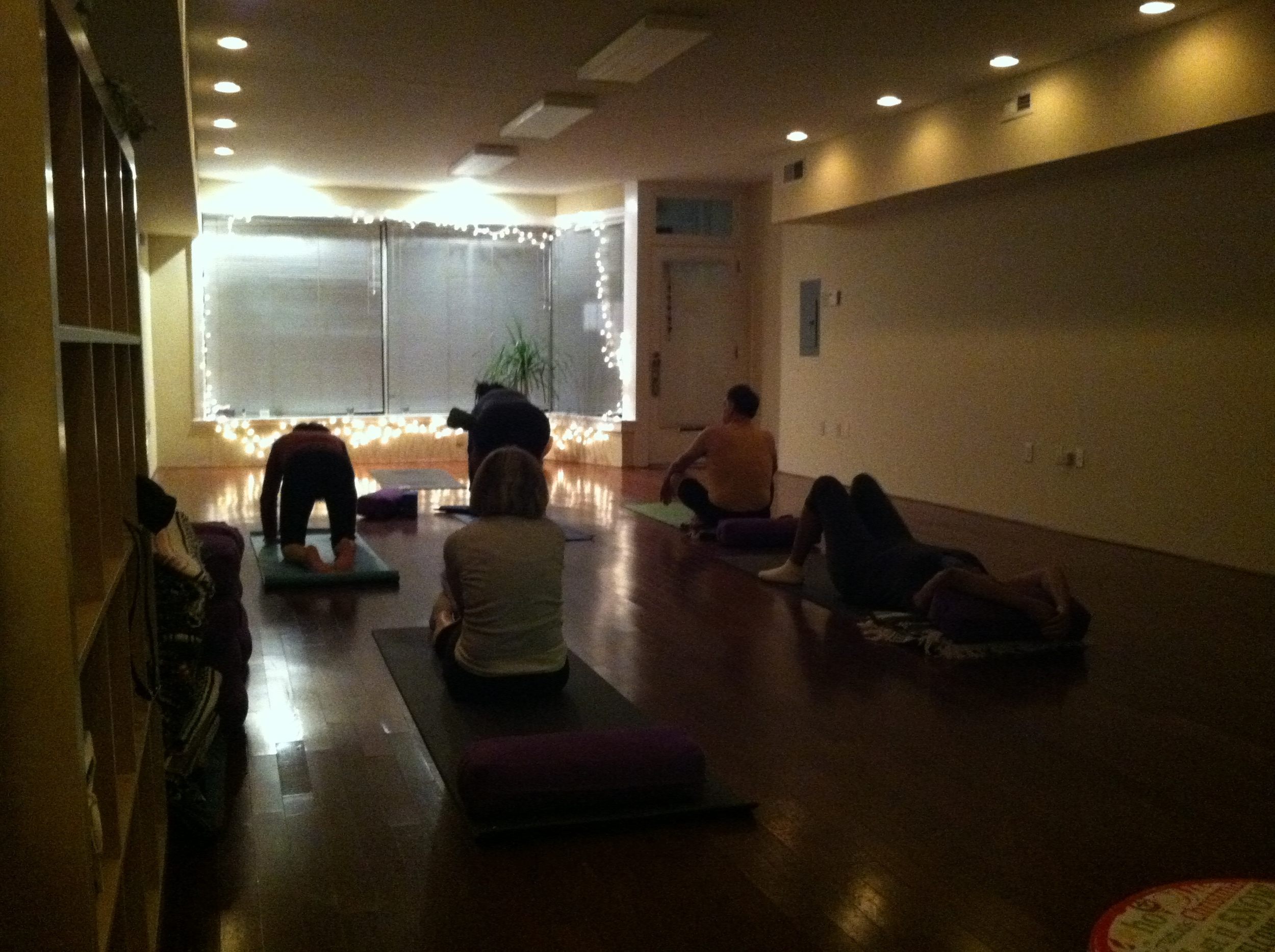 A few of the 9 yogi's we had at the studio Christmas eve morning