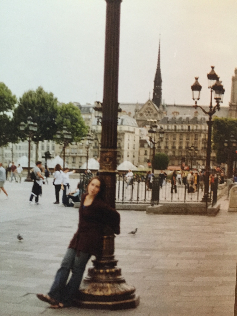 Blurry 15 year old Alisha on her first trip to France 17 years ago.
