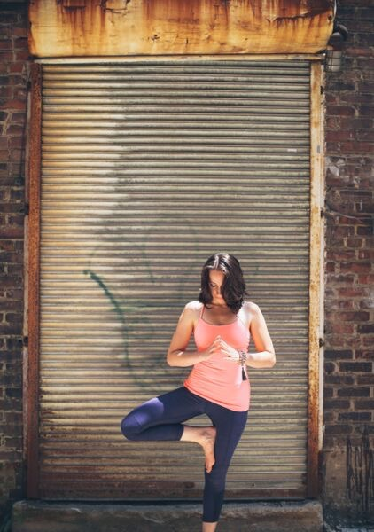 Me in Tree Pose: Photo by Lindley Battle